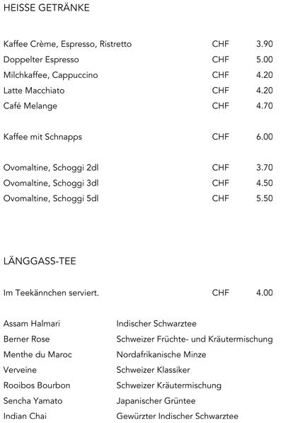 Alpines Tenniscenter Meiringen Getrnkekarte